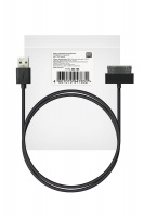 ROBITON P4 iphone4/1m/Charge&Sync USB A - Apple iPhone 4, 1м черный PK1